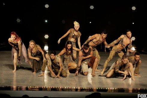 Team Stage performs a group routine choreographed by Travis Wall.